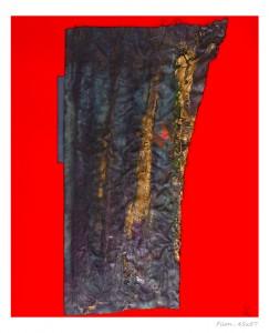 Filon Papier et encre sur tissu 45 x 57 cm