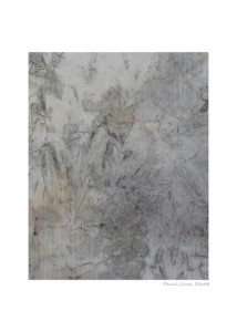 Pencil lines Encre sur tissu 38x48 cm