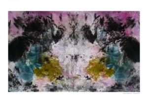 Symetrie Encre sur tissu 90x55cm